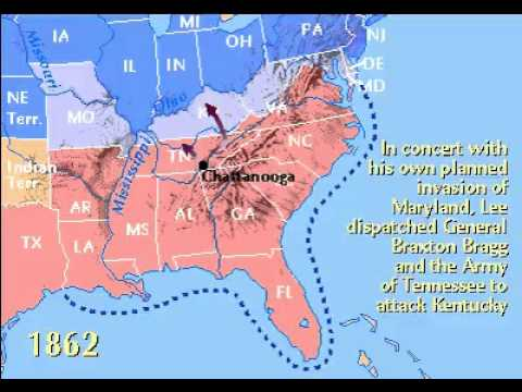 American Civil War Timeline 1861-1865 - YouTube
