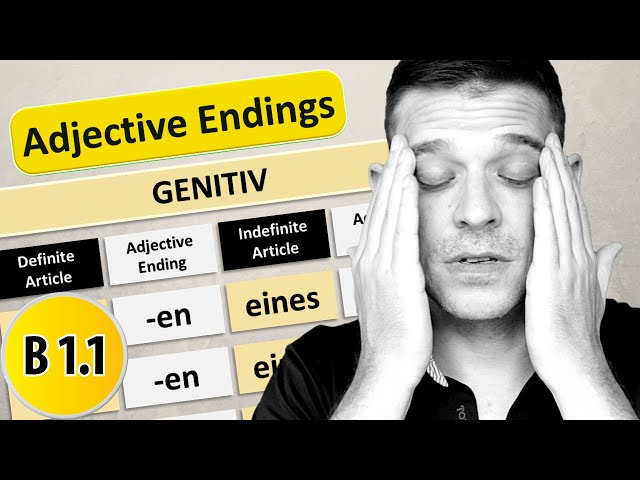 Die Adjektivdeklination im Genitiv | German adjective endings in Genitive