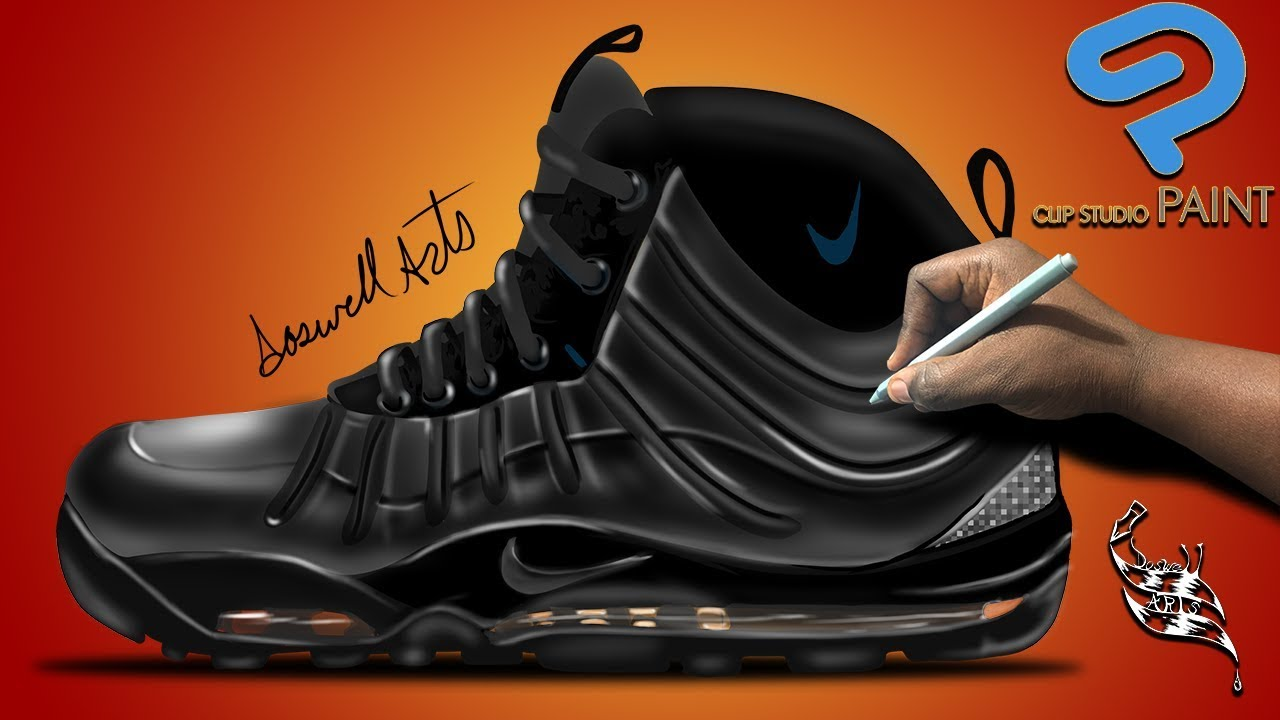 dfd2bda661c Sneaker art Nike Air Max posite bakin boot triple black - YouTube