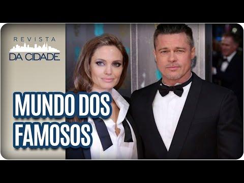 Brad Pitt,  Angelina Jolie e Sophia Abrahão - Revista da Cidade (23/03/2017)