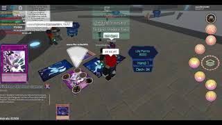 ROBLOX - Trash talker gets put down by a test deck (Shaddolls) - Yugioh Dimension Duels