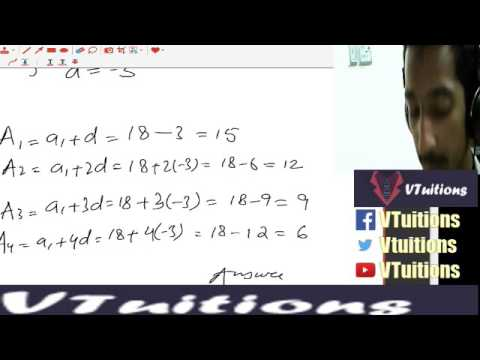 Chapter 6 Sequence and Series Math First Year Class - Sindh Board in Urdu and Hindi