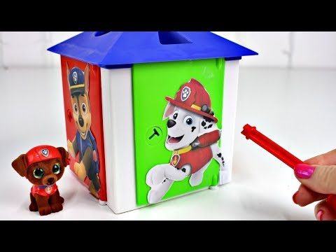 4 Colors Paw Patrol Lock and Key Toys Surprises Learn Colors for Kids