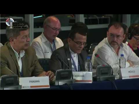 Videgaray lanza mirada de odio a embajador de Nicaragua; epilogo del desastre de la OEA en Cancún