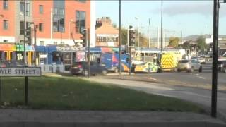 Passengers hear 'almighty bang' as two trams crash in Sheffield VIDEO  UPDATE