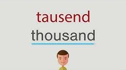 Wie heißt tausend auf englisch