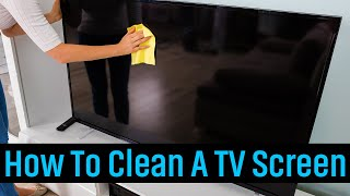 How To Clean A Tv Screen Without Damaging It Youtube