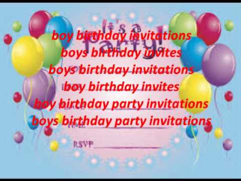 boys birthday party invitations youtube