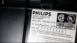 Review of my Philips Magnavox VRZ360 (AT02) VCR