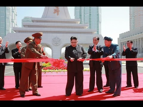 Inaugural Ceremony of Ryomyong Street Held in Presence of Ki