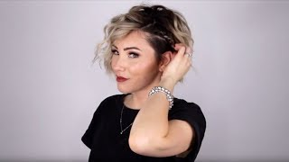 Aveda How-To | Curls and Accent Braid Short Hair Tutorial with Chloe Brown