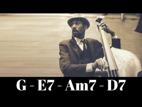 Medium Swing Jazz Bass Backing Track // G Major 1-6-2-5