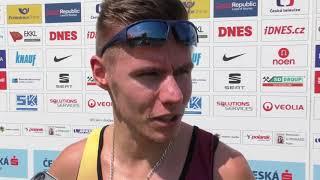 Pavel Maslák po rozběhu na 400 m na MČR 2018