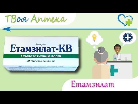 Этамзилат таблетки  - показания (видео инструкция) описание, отзывы