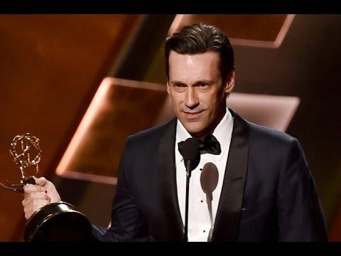 Jon Hamm Gets Emmy Award For Don Draper Of Mad Men