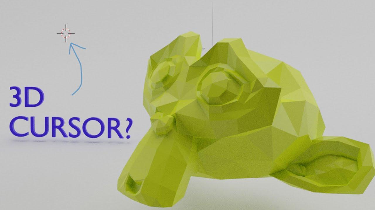 WTF is a 3D Cursor?! - Beginner's Guide to Blender 2.8 for 3D Print Design