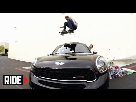 Tony Hawk Jumps Over His MINI Cooper Countryman