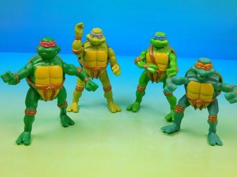 2005 Teenage Mutant Ninja Turtles Set Of 4 Mcdonalds Happy Meal