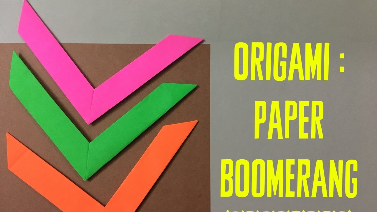 how to make an origami boomerang tutorial origami handmade