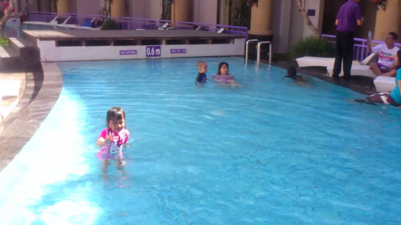 Swimming Pool At Kuta Central Park Hotel Bali Indonesia Youtube
