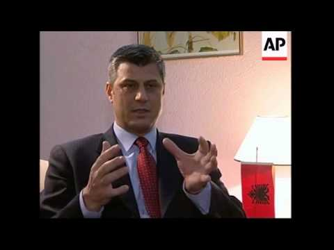 AP interview with Kosovo Albanian leader Hashim Thaci