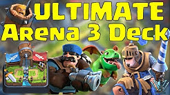 The BEST Arena 3 Deck | How to push to Arena 4 | Barbarian Bowl | Clash Royale with Leonidas!
