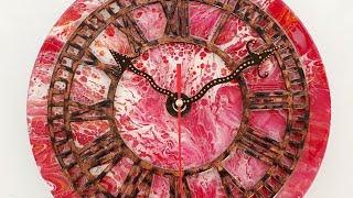 아크릴푸어링 냅킨아트 레진아트 시계만들기 making …
