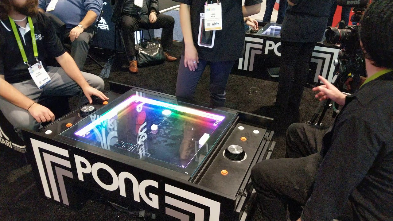 Atari Pong Coffee Table CES K Video YouTube - Atari coffee table