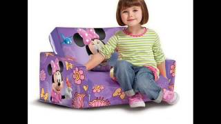 Marshmallow Fun Furniture Flip Open Sofa With Slumber   Disney's