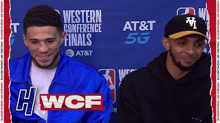 Devin Booker & Cameron Payne Postgame Interview - Game 2 WCF  - Clippers vs Suns | 2021 NBA Playoffs