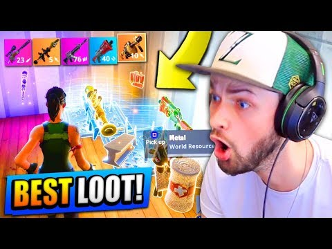 BEST LOOT EVER! (LEGENDARY WEAPONS!) - Fortnite: Battle Royale (Road to Rank #1)
