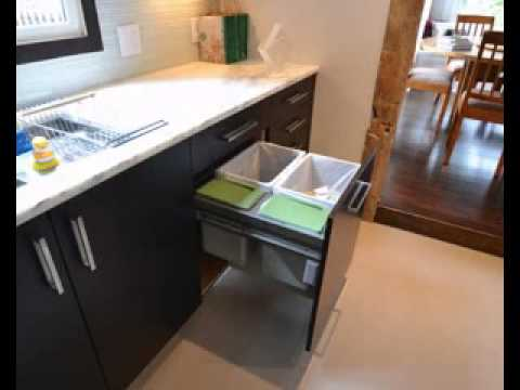 Kitchen trash can decorating ideas - YouTube - kitchen trash can ideas