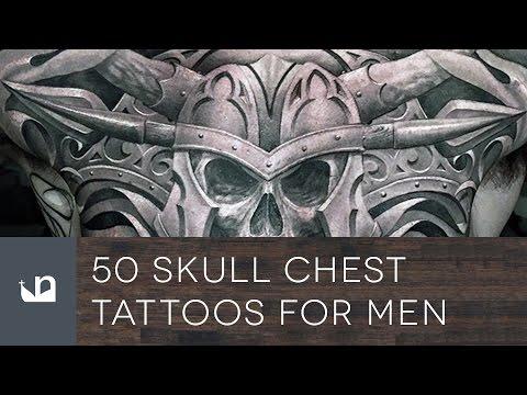 50 Skull Chest Tattoos For Men