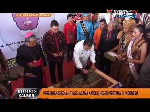 Peresmian Sekolah Tinggi Agama Katolik Negeri Pertama di Indonesia - Kompas TV Pontianak