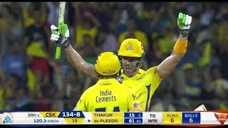 Csk Vs Srh 2018 ipl highlights