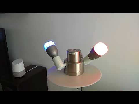 Xiaomi Yeelight Bulb RGB and Google Home test
