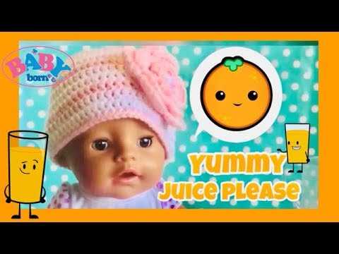 Baby Born delicious orange juice and playtime zapf creations baby born