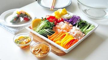 알록달록 월남쌈 만드는법, 소스 만들기(Vietnamese Spring Rolls,꼬마츄츄)