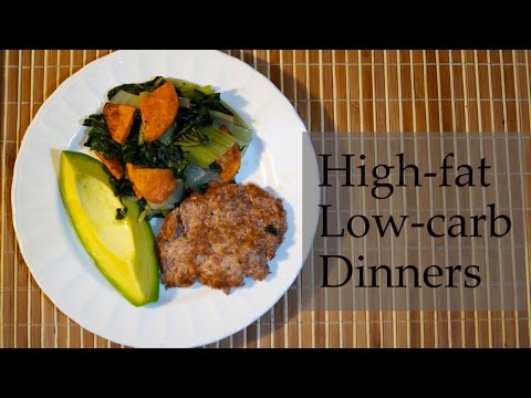 Five high-fat / low-carb dinners