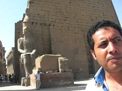Emad Luxor Egypt tour guide extraordinaire showing us Luxor Temples