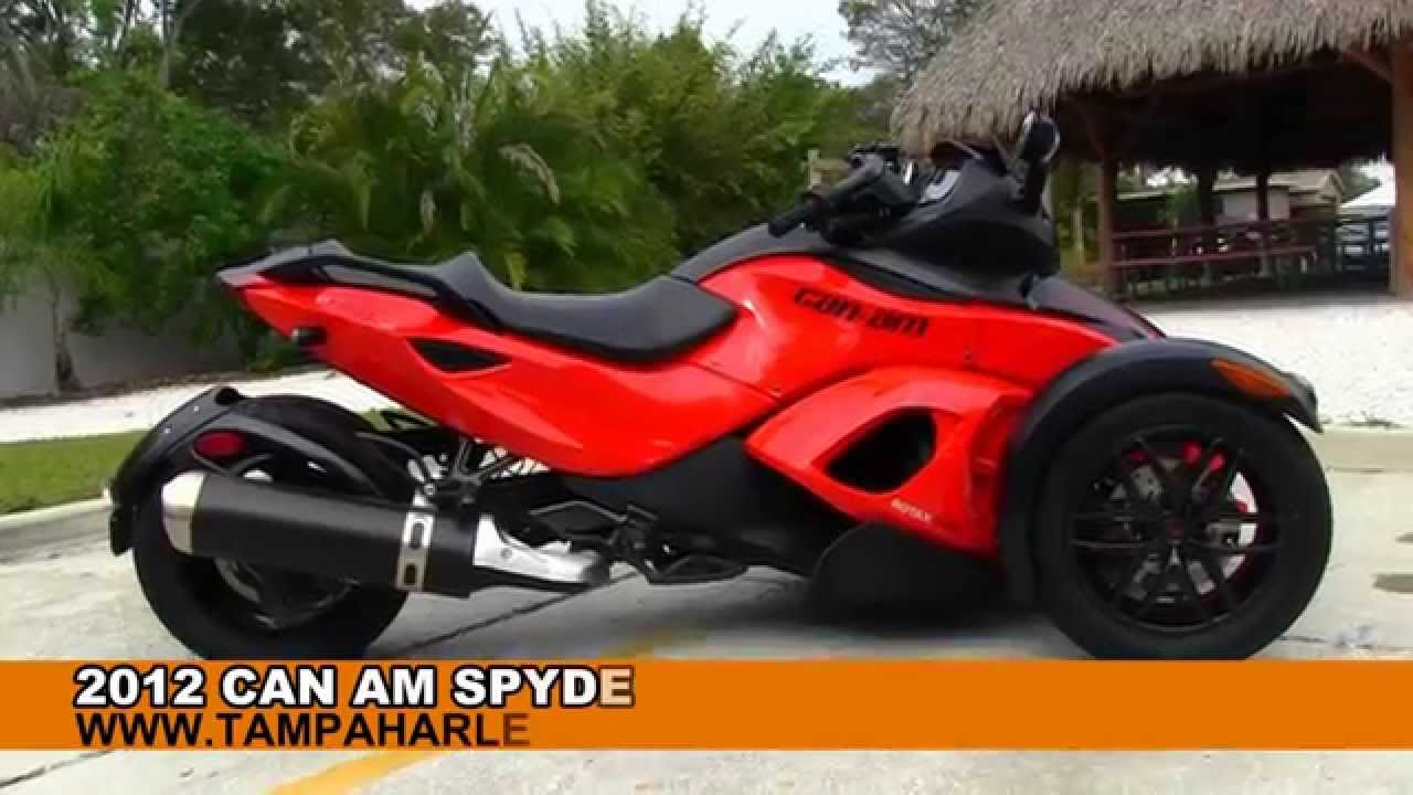 Can Am Spyder For Sale >> Used 2012 Can Am Spyder Rss For Sale