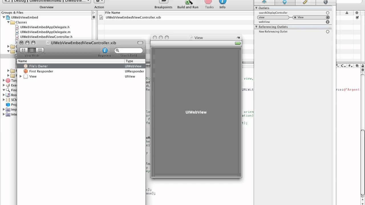 Xcode Tutorial: Embed HTML File in UIWebView