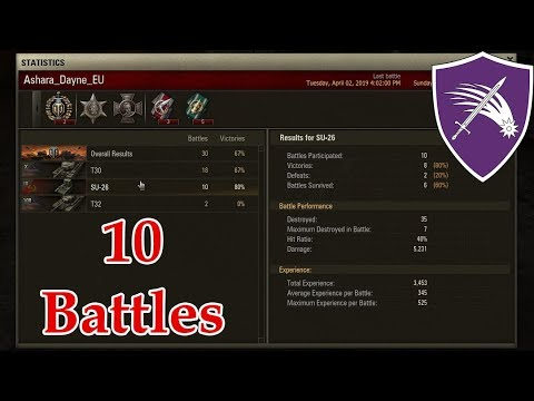 Old SU-26 In World Of Tanks Classic 0.7.0 / 10 Battles Statistic