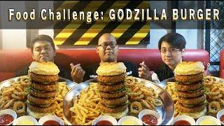 Kuliner sama Pak Bram: Food Challenge - Godzilla Burger !! (HALAL) | bramarmanTV