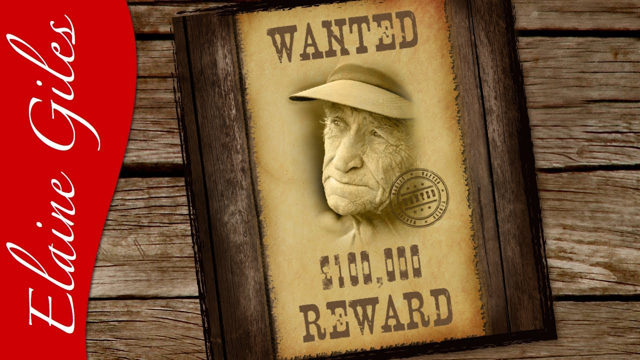 pixelmator tutorial create a wanted poster