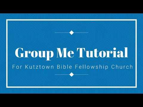 Group Me Tutorial