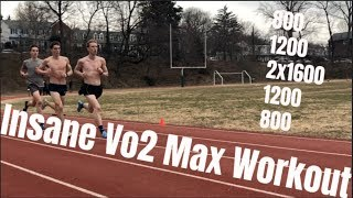 INSANE Vo2 MAX WORKOUT **this hurt**
