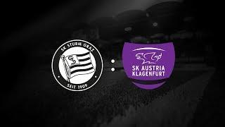 Spielaufzeichnung: Sturm Graz 2:1 SK Austria Klagenfurt (0:0)