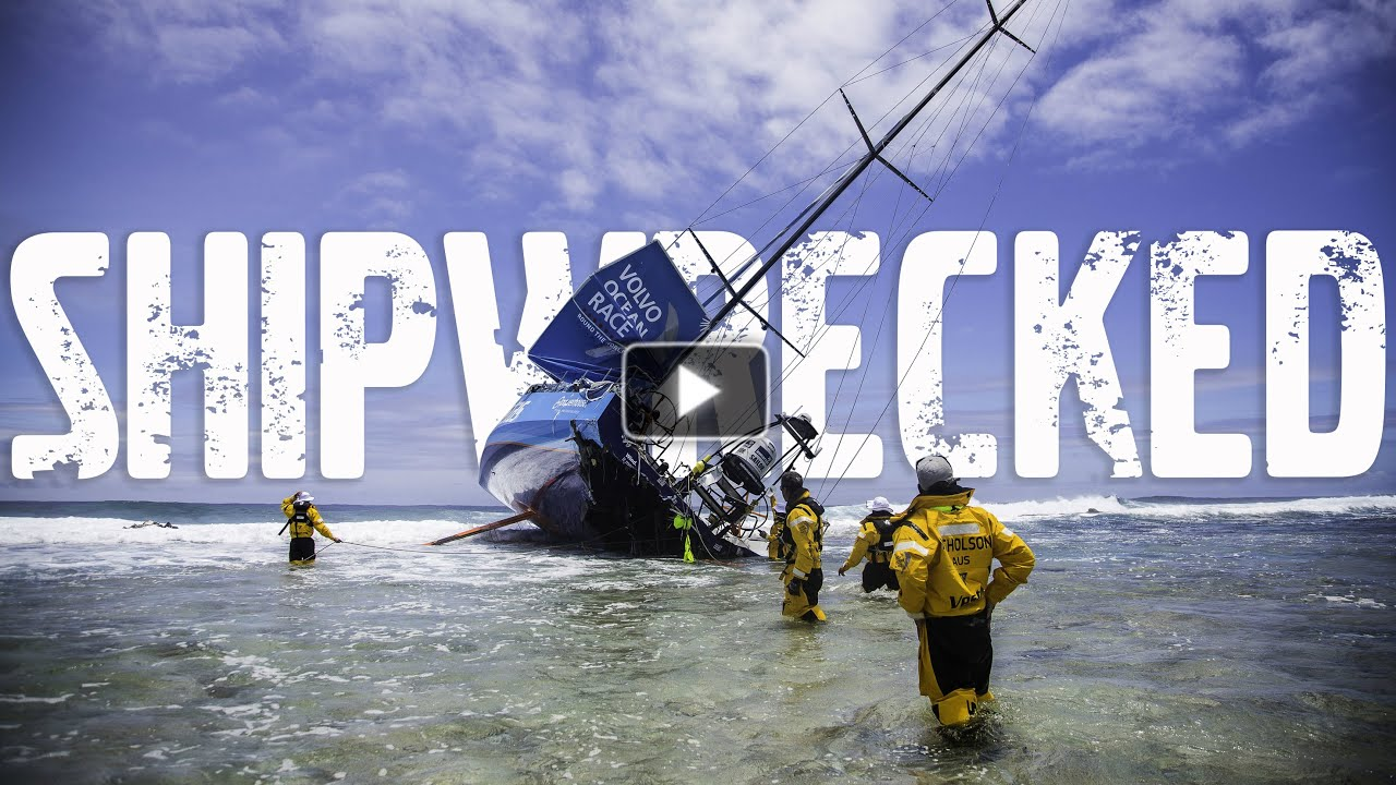 Race Yacht Crash Caught On Camera Volvo Ocean Race 2014