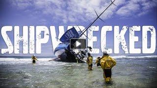 race yacht crash caught on camera   volvo ocean race 2014 15
